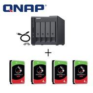 QNAP TR-004 4-bay USB 3.0 RAID 磁碟陣列外接盒+Seagate 4TB 3.5吋NAS硬碟*4