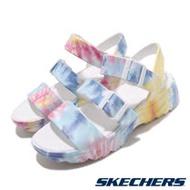 Skechers 涼拖鞋 D Lites 2 休閒 女鞋 鞋面可調 微增高 修飾腿型 渲染 白 彩 111068MLT 111068MLT