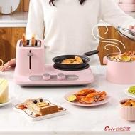 烤麵包機 烤面包機家用早餐機多功能三合一小型多士爐吐司烤機T