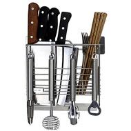 304不銹鋼刀架筷子筒 廚房家用壁掛式筷子籠盒放刀瀝水收納置物架