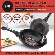 K-ART 2nd Generation 3D IH Iron Wok Pan  / MADE IN KOREA