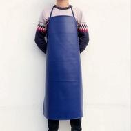 【熱賣推薦】圍裙 廚房防水防油皮革圍裙 工作工廠廚房家務圍腰 成人男女PU加長加大圍兜圍裙