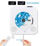 Wall Mountable CD Player with Bluetooth, Jimwey Portable CD Music Player Built-in HiFi Speakers with