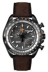 Timex นาฬิกาผู้ชาย สายหนัง รุ่น T2P102 - สีน้ำตาล