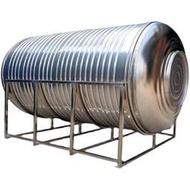不銹鋼水塔304加厚水箱家用1噸臥式儲水罐蓄水桶屋頂太陽能儲水pe