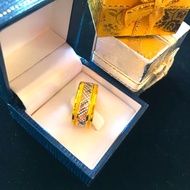 แหวนทองคำแท้ 1 สลึง พร้อมใบรับประกันทอง