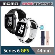運動錶帶超值組★【Apple 蘋果】Apple Watch Series6 44公釐 GPS版 鋁金屬錶殼搭配Nike運動錶帶(S6 GPS44)