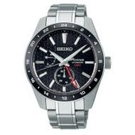 SEIKO精工 PRESAGE 新銳系列 立體麻葉圖騰 GMT機械腕錶 / SPB217J1 / 6R64-00C0B /【黑標限定】