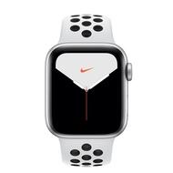【直降 送行動電源】Apple Watch Nike+ Series 5 GPS + LTE 版_40mm銀色配黑色 Nike 運動錶帶 (MX3C2TA/A)