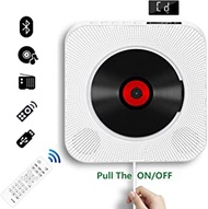 CD Player with Bluetooth, Wall Mountable CD Music Player Home Audio Boombox