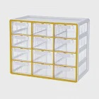 SYSMAX 雙色系統12格 多用途收納盒 黃