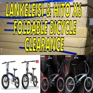 [Clearance] 20 inch Shimano Foldie Folding Bicycle Bike Foldable Lankeleisi QF600 Mountain Hito Hachiko X6 X4 Java 16 SG