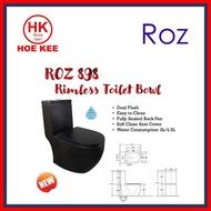 ROZ 898 Matt Black Rimless 1-PC Toilet Bowl