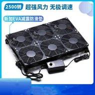 靜音大風量 可調速游戲筆記本底座散熱器 GT/RT-AC5300路由器風扇【摩可美家】