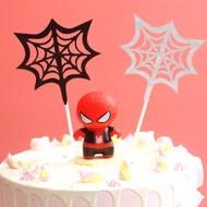 MK 萌版擺件生日蛋糕擺件蜘蛛人復仇者立體蜘蛛人派對甜品臺蛋糕佈置裝潢插牌