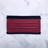 黑耀彩光系列   緋紅   50 入 1 盒   成人醫療口罩