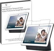 """Wasserstein 10"""" Screen Protector Compatible with Google Nest Hub Max - Anti-Scratch and Water Resistant Tempered Glass for Nest Hub Max"""