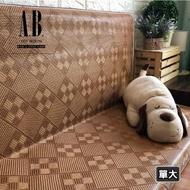 【AndyBedding】台灣製亞藤蓆折疊床墊-單人加大3.5尺(床墊、折疊床墊、亞藤蓆)