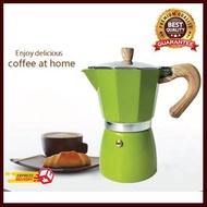 มอคค่าพอท Moka Pot 6 cup สีเขียว อุปกรณ์ทำกาแฟ ทำกาแฟ เครื่องชงกาแฟ กาแฟคั่วบด กาแฟสด