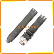 Swatch 21mm Genuine Leather Soft Leather Strap For Swatch Black Swatch Strap 21