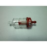 萬象遙控模型 加大型☆消泡型☆透明濾油器組(紅) (汽油可用)