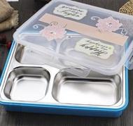 304不銹鋼保溫飯盒加大雙層餐盤成人白領便當盒分格快餐盒