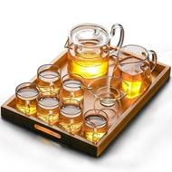 茶具茶壺茶杯玻璃茶具套裝日式功夫茶杯透明家用簡約現代耐高溫紅茶喝茶泡茶壺