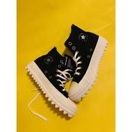 Converse 鋸齒厚底高筒帆布鞋