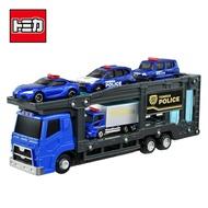 【日本正版】TOMICA 警察運輸車組 附4台小車 玩具車 汽車運輸車 城鎮系列 場景玩具 小車收納 多美小汽車 - 175988