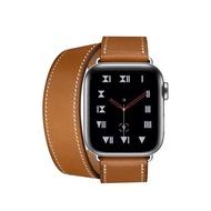 Double TourสายหนังสำหรับสายคาดAPPLE WATCH 38mm 40mm 42mm 44mm Genuine Leather SlimสายสำรองสำหรับApple Watch Series 5/4/3/2 wristband