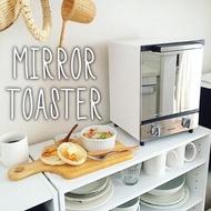 日本【IRIS OHYAMA】時尚雙層烤箱 鏡面風格 MOT-012