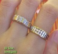 KMDGold แหวนทอง1สลึง งานทองคำขาว มาตรฐานทองเยาวราชค่ะ