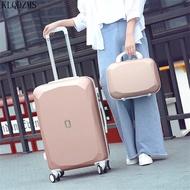 KLQDZMS 20''22''24''26Inch ABSน้ำหนักเบากระเป๋าเดินทางล้อชุดกระเป๋ารถเข็นกระเป๋าเครื่องสำอางค์สำหรับผู้หญ...