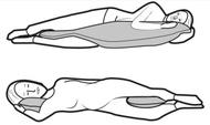 Joyfill Flexolax Nursing/Posture Pillow with Talalay Latex Flakes - XL 190 x 40cm - 548 Red Apple