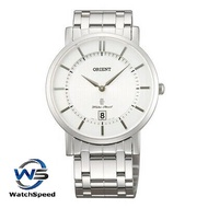 Orient SGW01006W0 Analog Quartz Japan Movt Stainless Steel White Dial Men's Watch