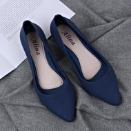 FaJa รองเท้ายางส้นสูง ยางนิ่ม คัชชูเจลลี่ (มี4สี สินค้าพร้อมส่ง)