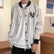 [come5290] 代購  春季 MLB 新款 NY 洋基 刺繡 棒球 夾克 情侶款 條紋 外套 男 女