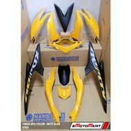Cover Set Yamaha Moto NVX NVX155 Aerox Yellow Matte Black CoverSet