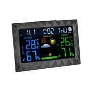Blesiya สถานีอากาศไร้สายพยากรณ์อากาศในร่มเครื่องวัดอุณหภูมิกลางแจ้งนาฬิกาตรวจจับ US