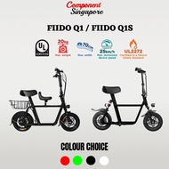 ♕ Fiido Q1 ♕ Fiido Q1S ♕ UL2272 Certified ♕ Local Seller ♕ Electric Scooter ♕ LTA Compliance ♕
