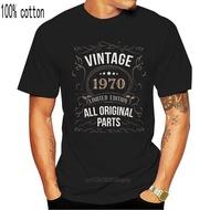 Vintage 1970 50Th Birthday T Shirt 50 Years Old Gift Black Navy Short Men Women