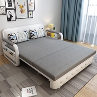 Folding dual purpose sofa bed multi function office rest sofa double person family stretch bed
