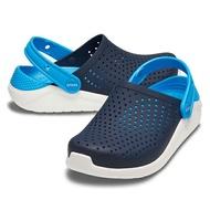 【領券再九折】【205964-462】CROCS Lite Ride卡駱馳 鱷魚 輕便鞋 拖鞋 涼鞋 軟底 輕量 深藍水藍 童鞋款