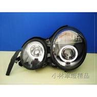 【小林車燈精品】全新外銷件 BENZ W210 晶鑽/黑框 光圈魚眼大燈 特價中