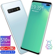 [S10 +] สินค้าฮอด S10 + Android สมาร์ทโฟน RAM 6GB ROM128 GB 6.5 inches 4 cameras Face recognition mobile phone