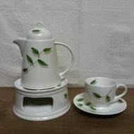 WH5689【四十八號老倉庫】全新 早期 英格蘭 Diana Royal 咖啡杯組 1壺1爐2杯2盤