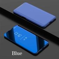 BKKONLINE HUAWEI NOVA 3i ฝาครอบกระจกมองข้างแบบใสสำหรับ HUAWEI NOVA3I ฝาครอบพวงกุญแจหนังแท้ PU สำหรับ HUAWEI NOVA3i Phone Flip Case 6.3 inch ''