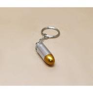 < WLder > M1911 湯姆森 .45手槍 裝飾彈 鑰匙圈 銀 (操作槍道具槍擺飾品子彈模型彈假彈道具彈11.46mm X 23mm