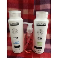 🔥Ready Stock🔥 Hair Shampoo ✣Gold Nine ICE SPA Shampoo 400ml & Masque 400ml & TC Serum 125ml♂