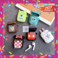 PROMO MURAH COD !!!  Mickey Mike Sulley Airpods Case 3D Sillicon Soft Cover - Mike TERSEDIA JUGA Airpods android/Airpods/Airpods original/Airpods karakter/Airpods bts